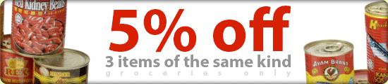 5 % discount
